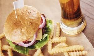 The Firbank Pub & Kitchen: Fish and Chips or Burger with Beer for One, Two or Four at The Firbank Pub and Kitchen (Up to 56% Off)