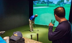 The Back Nine Indoor Golf: One or Two Hours of Golf Simulator Play at The Back Nine Indoor Golf (Up to 55% Off)