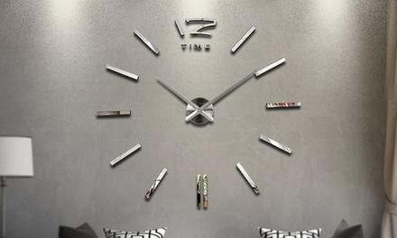 Large 3D Frameless Wall Clock