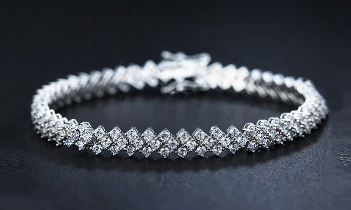 Tennis Bracelet Made With Swarovski Elements By Of Love