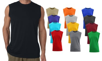 e6667e3b971 Shop Groupon Galaxy by Harvic Men s Muscle Tank T-Shirt Set Mystery Deal  (3-Pack