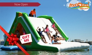 Just 4 Fun Aqua Park: $29 for an All-Day Aqua Park Pass for One Person, Two Locations at Just 4 Fun Aqua Park (Up to $45 Value)