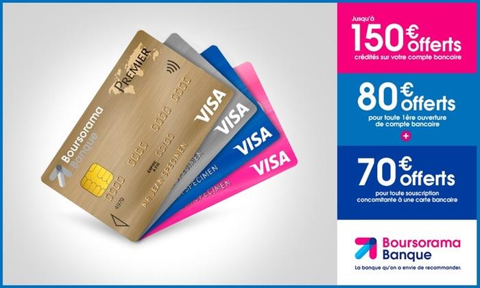 Carte Bancaire Gratuite Boursorama.Jusqu A 150 Offerts Boursorama Banque Groupon