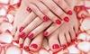 Pedicure e manicure con smalto