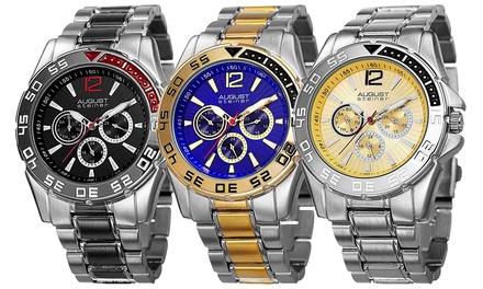 249 zł zamiast 1600 zł: męskie zegarki kwarcowe August Steiner – 4 modele