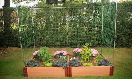 Raised garden bed with trellis groupon goods for Gardening 4 less groupon