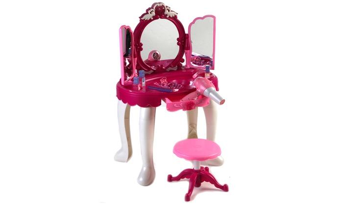 Specchiera con sgabello per bambini groupon goods