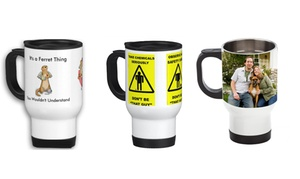 PAPEYONE FZE: One, Two or Four Personalised Travel Mugs from PAPEYONE FZE (Up to 31% Off)