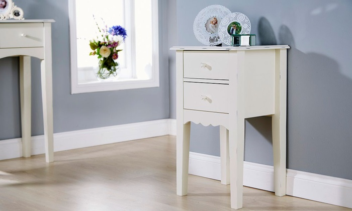 Shabby Chic Bedside Table Groupon