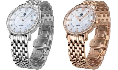 Reloj Granton Marquise para mujer decorado con 8 diamantes blancos (envío gratuito)
