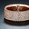 Barzel 5-Row 18K Rose Gold Plated Cubic Zirconia Bridal Band