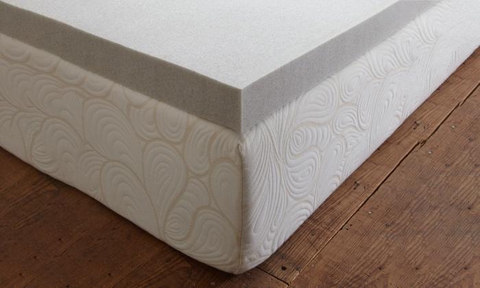 purasleep carbon comfort gel memory foam mattress topper purasleep carbon comfort gel memory foam mattress