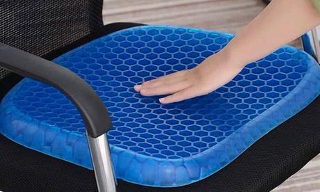 1 o 2 cojines para asiento de memoria con gel y revestimiento antideslizante