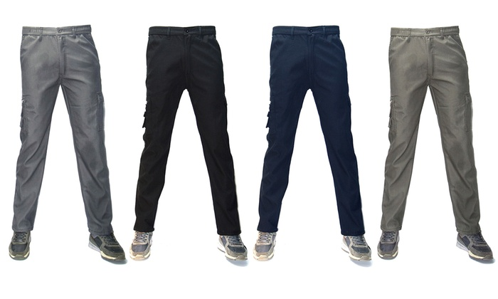Pantolone cargo termico felpato