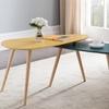 Table gigogne jaune/bleu canard