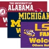 NCAA Fans Welcome Signs