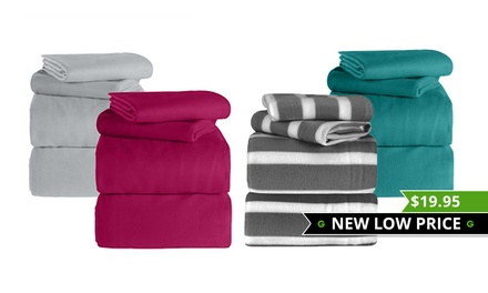 Polar Fleece Sheet Set in Choice of Colour: Single $19.95, King Single $22, Queen $25 or AU King $29