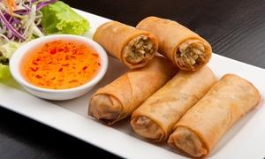 Le Mékong: Menu du moment avec apéritif, entrée, plat, dessert, café et saké pour 2 ou 4 pers. dès 39,90 € au restaurant Le Mékong