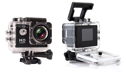 Caméra de sport type Gopro, Vidéo Full HD 1080p, Ecran LCD, avec accessoires