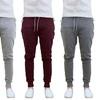 Men's Tech Fleece Joggers with Zipper Pockets (2 Pairs)