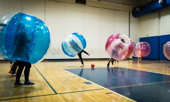 BubbleBall - Jackson Mann School: Game of Bubble Soccer for up to 12 or a One-Hour Bubble Soccer Party for up to 12 at BubbleBall (Up to 63% Off)