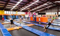 Trampoline Park Entry: One-Hour Pass ($9) or One-Year Pass ($450) at Gravity Trampoline Park (Up to $599 Value)