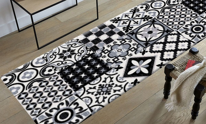 Tapis nazar tapis utopia groupon shopping for Tapis imitation carreaux ciment