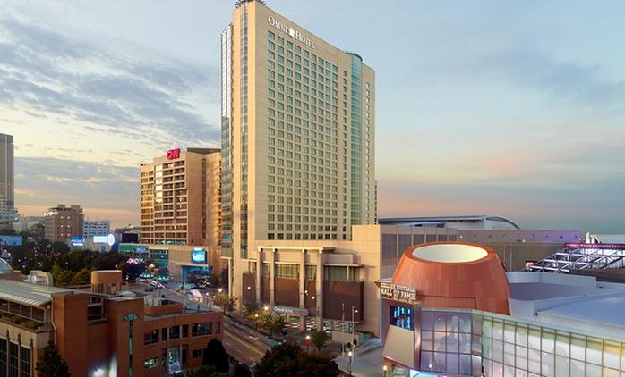 Stay at Omni Atlanta Hotel at CNN Center in Downtown Atlanta, with Dates into May