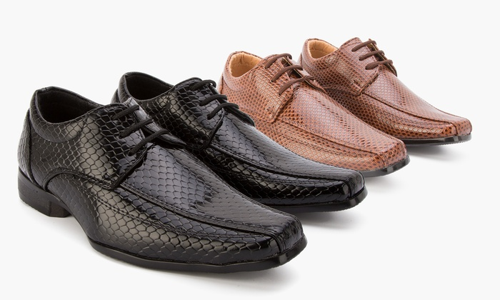 Groupon Goods Global GmbH: Boys Black or Brown Formal Shoes