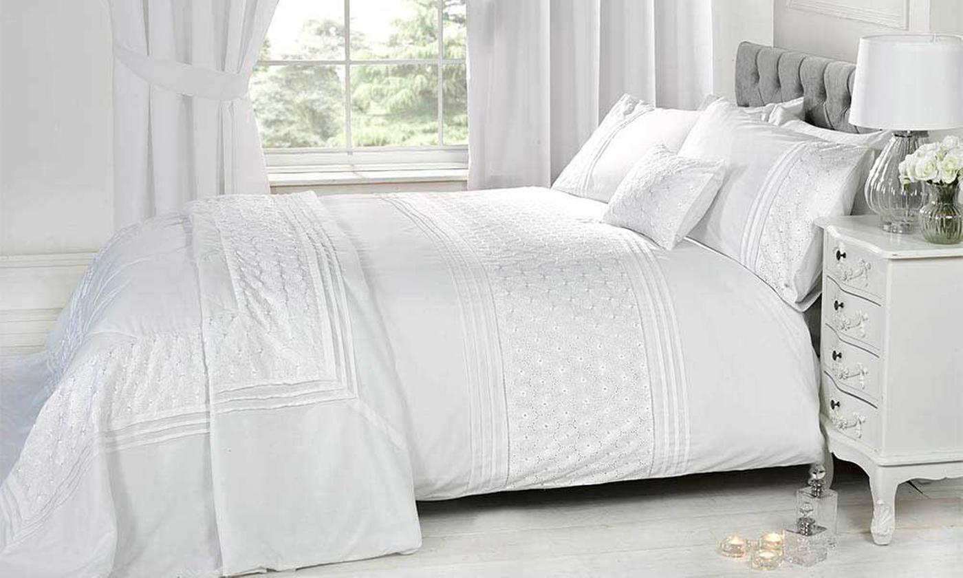 Rapport Home Embroidered Duvet Cover Set or Cushion