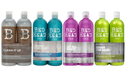 One or Two Tigi Bed Head Shampoo and Conditioner Sets 750ml