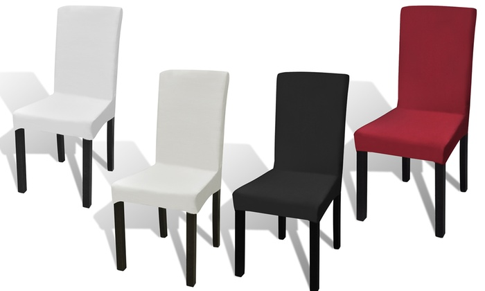 6 housses de chaises extensibles groupon. Black Bedroom Furniture Sets. Home Design Ideas