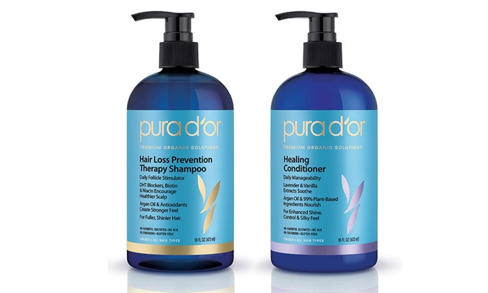 Pura D'or Premium Organic Hair-Loss-Prevention Shampoo or Conditioner Set