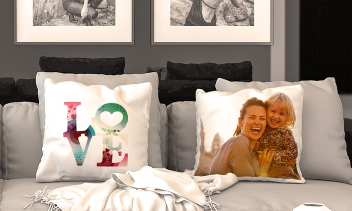 CanvasOnSale: One, Two, Three, or Four Personalized Cushion Covers with Optional Fillers from CanvasOnSale (Up to 88% Off)