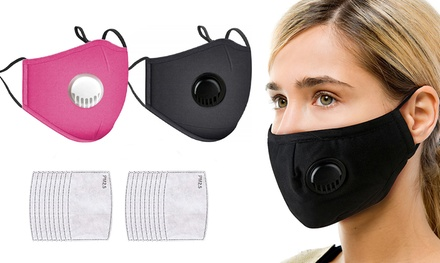 Cotton Face Mask with 2, 10 or 20 Filters