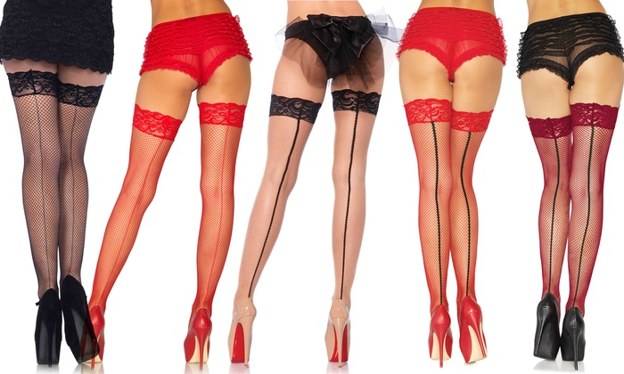 819fef79296c5 Up To 13% Off on Leg Avenue Stay-Up Thigh-Highs | Groupon Goods