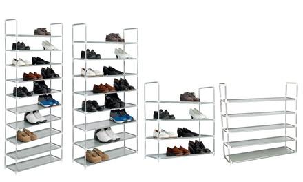 1 ou 2 organisateurs de chaussures en métal pour 12, 20, 32 ou 40