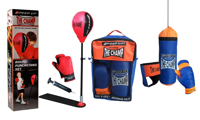 Boxing Punch Stand Set or Four-Piece Boxing Set for £19.99