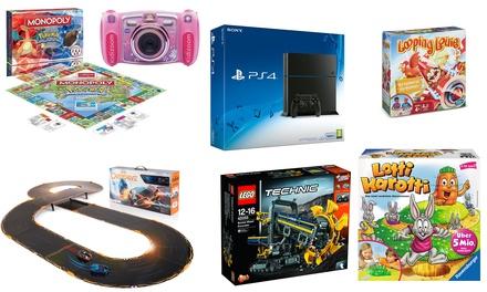 Mystery Geschenk plus Gewinnchance auf eine Playstation 4, Spielzeug von LEGO, PLAYMOBIL und vieles andere mehr