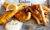 Hot Red Bus - Alhambra: British Fish & Chips and Brit-Indian Fare at Hot Red Bus (Up to 40% Off). Two Options Available.