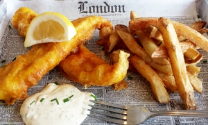 Hot Red Bus: British Fish & Chips and Brit-Indian Fare at Hot Red Bus (Up to 40% Off). Two Options Available.
