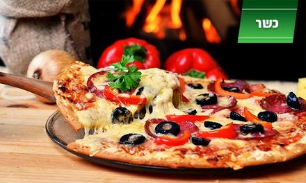 פיצה בוגרשוב החדשה: מלאווח מגולגל עם רסק, טחינה וביצה ב 10 ₪ או מגש פיצה משפחתית + תוספת ב 19 ₪ בלבד. כל יום עד חצות