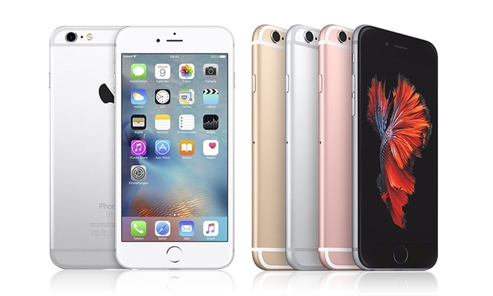 $50 OFF Apple iPhone 6s or 6s Plus w/ MFi Certified Cable (GSM Unlocked/Refurbished)-Not Compatible w/ Verizon or Sprint