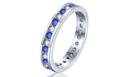 Sreema London Simulated Diamond Eternity Ring