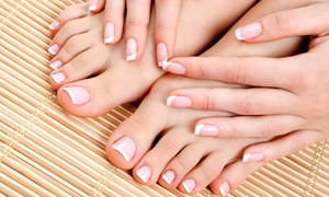 Facials Unlimited Day Spa: Shellac Manicures or Regular Manicure and Happy Toes Pedicure at Facials Unlimited Day Spa (Up to 49% Off)