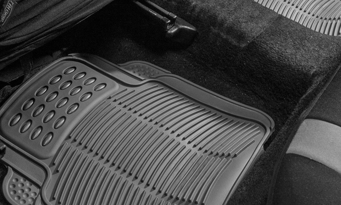 Up To 62 Off On Rubber Car Floor Mats 4 Piece Groupon Goods