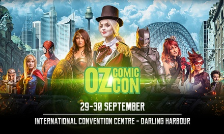 Oz ComicCon Sydney: 1Day Child $17.50, General Admission $30, or Combined Ticket $36, 29 30 Sep