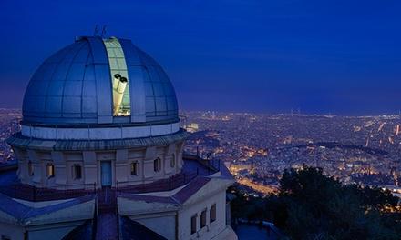 Cena con estrellas y visita al Observatori Fabra para 2 o 3 con observación por telescopio desde 114 € con Sternalia