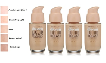 $24.95 for a FourPack of Maybelline Liquid Foundation Don't Pay up to $63.96