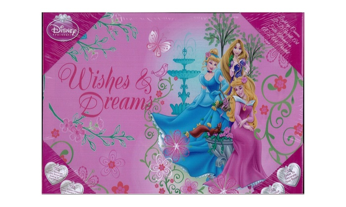 Groupon Goods: Disney Princess Canvas with Built-In LCD Lights (Shipping Included)